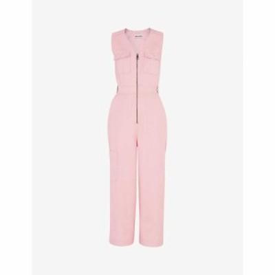 ホイッスルズ WHISTLES レディース オールインワン ジャンプスーツ ワンピース・ドレス Nettie cotton utility jumpsuit PINK