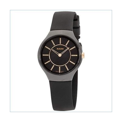 Rado True Thinline Quartz Movement Black Dial Ladies Watch R27742709並行輸入品