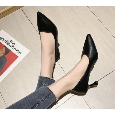 2020新作!ピンヒール パンプス 大きいサイズ ヒール6.5cm サイズ22-24.5cm レディースハイヒール 美脚 歩きやすい靴