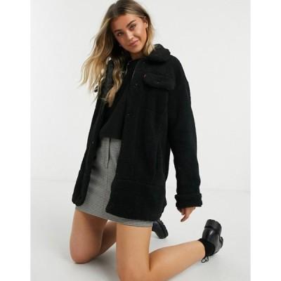 リーバイス レディース ジャケット・ブルゾン アウター Levis oversized trucker jacket in black