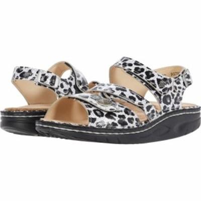 フィンコンフォート Finn Comfort レディース サンダル・ミュール シューズ・靴 Tiberias Black/White/Leopard Print