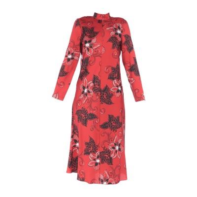 ハイケ HACHE 7分丈ワンピース・ドレス レッド 42 ポリエステル 100% 7分丈ワンピース・ドレス