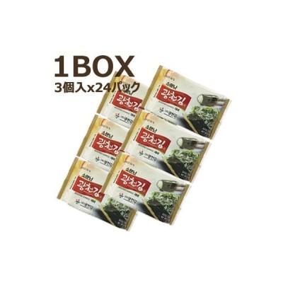 【まとめ買いがお得】『広川』噂の広川海苔 味付けのり(1BOX=3個x24パック) ■1パック当り131円 韓国のり 韓国海苔 韓国料理 韓国食材 韓国食品