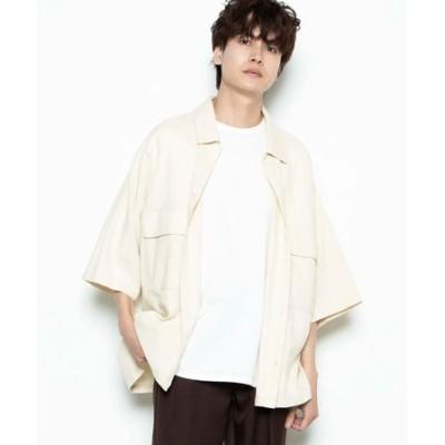 リネンMIX 5分袖CPOシャツ