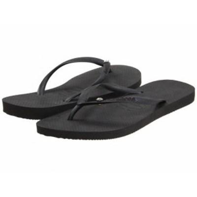 Havaianas ハワイアナス レディース 女性用 シューズ 靴 サンダル Slim Crystal Glamour SW Flip Flops Black【送料無料】