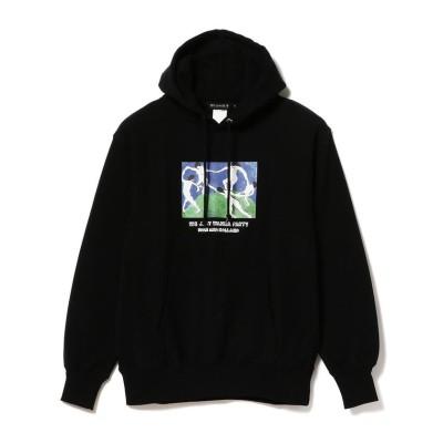 【ビームス メン】 BEAMS T / NAIJEL GRAPH × HOLE AND HOLLAND パーカ メンズ ブラック L BEAMS MEN