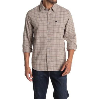 オベイ メンズ シャツ トップス Hernan Woven Long Sleeve Regular Fit Shirt GREY MULTI