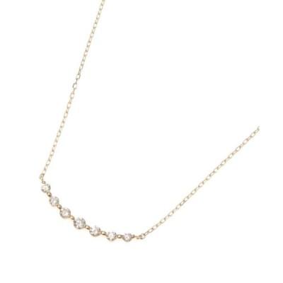 ネックレス K18ダイヤモンド グラデーション7石 ネックレス