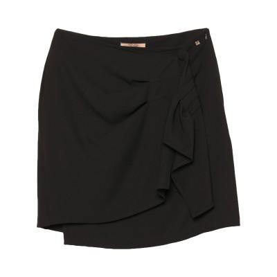 コッカ KOCCA ミディスカート ブラック 42 ポリエステル 97% / ポリウレタン 3% ミディスカート