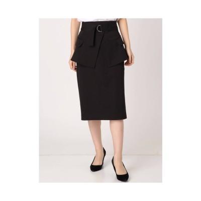 EMODA ベルトマークミディスカート ブラック