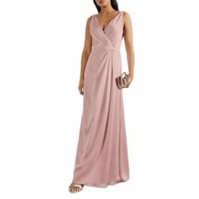 テッドベーカー レディース ワンピース トップス Pleated Maxi Dress Dusky Pink