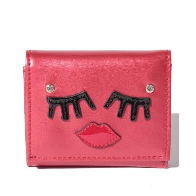 【スパイラルガール(バッグ)】 フェイス三つ折り財布 レディース ライトレッド FREE SPIRALGIRL