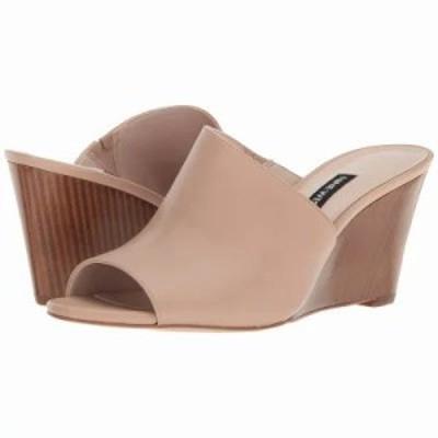 ナインウェスト サンダル・ミュール Janissah Slide Sandal Light Natural Leather