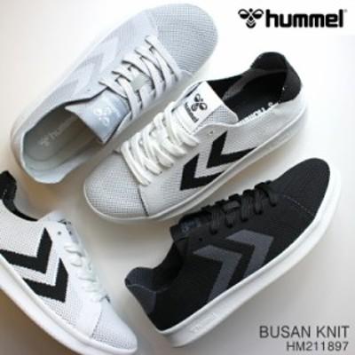 ヒュンメル スニーカー hummel BUSAN KNIT HM211897 ブサンニット ローカットスニーカー おしゃれ ニットスニーカー