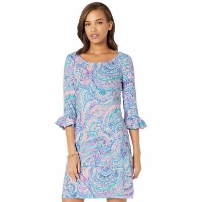 リリーピュリッツァー ワンピース トップス レディース UPF 50+ Sophie Ruffle Dress Multi Happy As A Clam