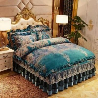 高級ワイドダブル ベッド用品4点セット .寝具 ボックスシーツ 枕カバー掛け布団カバー ベッドカバー 別サイズあり