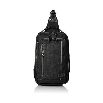 [リー] ボディバッグ・ワンショルダー デニム地 メタルロゴプレート 3WAY 持ち手付き (ブラック One Size)