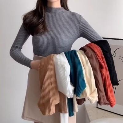 ハーフハイカラーのスリムフィットセーター長袖のトップとボトミングのシャツで実際の価格は新しいセーターを下げません