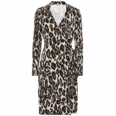 ダイアン フォン ファステンバーグ Diane von Furstenberg レディース ワンピース ワンピース・ドレス Jeanne Two leopard-print silk dr