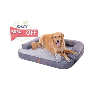 PLS Birdsong Lounger Sofa, Large, Firm Orthopedic Dog Bed, Foam Dog Bed, Dog Beds with Removable and Washable Cover, Dog Beds for Medium Dogs