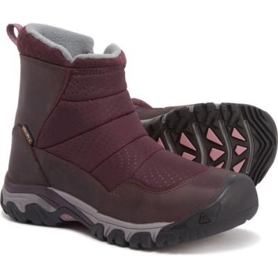 キーン Keen レディース ブーツ シューズ・靴 Hoodoo III Low Zip Boots - Waterproof, Insulated Peppercorn/Wine Tasting
