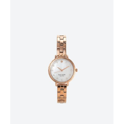 <KATE SPADE NEW YORK(Women)/ケイト・スペード ニューヨーク> MORNINGSIDE SCALLOP THREE-HAND ROSE GOLD-TONE STAINLESS STEEL WATCH ROSE GOLD【三越伊勢丹/公式】