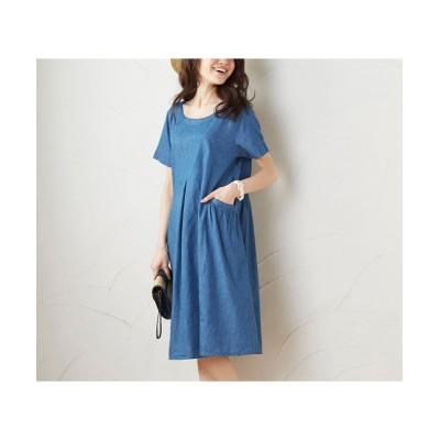 ゆるシルエットデニムワンピース (ワンピース)Dress