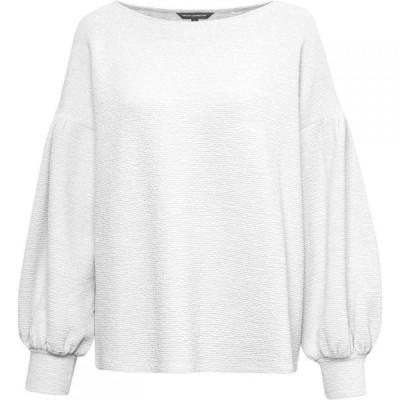 フレンチコネクション French Connection レディース ニット・セーター トップス Ellen Textured Balloon Sleeve Sweater Vintage White