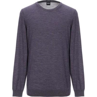 ヒューゴ ボス BOSS HUGO BOSS メンズ ニット・セーター トップス sweater Purple