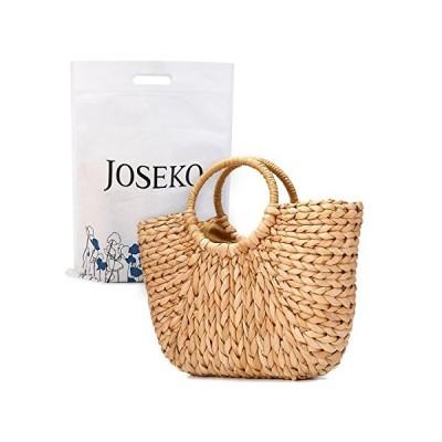 JOSEKO かごバッグ トートバッグ ストローバッグ レディース 草編み 手提げ 軽量 浴衣向け 海水浴 旅行 プレゼント