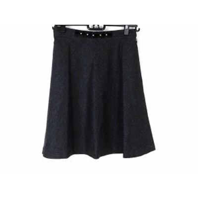 カールパークレーン KarL Park Lane スカート サイズ11 M レディース ダークグレー×黒【中古】