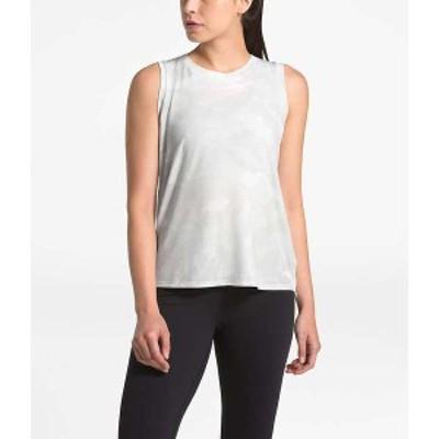 ノースフェイス レディース Tシャツ トップス The North Face Women's Workout Novelty Tank TNF White Waxed Camo Print