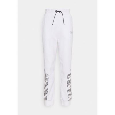 プーマ カジュアルパンツ レディース ボトムス REBEL HIGH WAIST PANTS  - Tracksuit bottoms - puma white