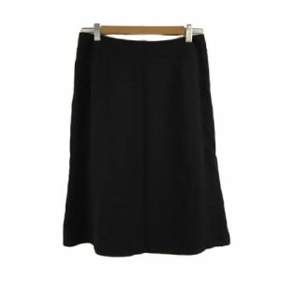 【中古】ソニアリキエル SONIA RYKIEL SONIA スカート フレア ひざ丈 無地 40 黒 ブラック レディース
