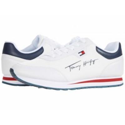 Tommy Hilfiger トミー ヒルフィガー レディース 女性用 シューズ 靴 スニーカー 運動靴 Laces White/White/Navy【送料無料】