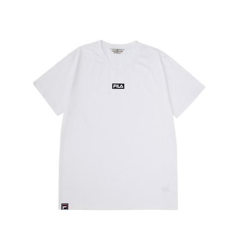 FILA 短袖圓領T恤(中性版型)-白色 1TEV-1527-WT