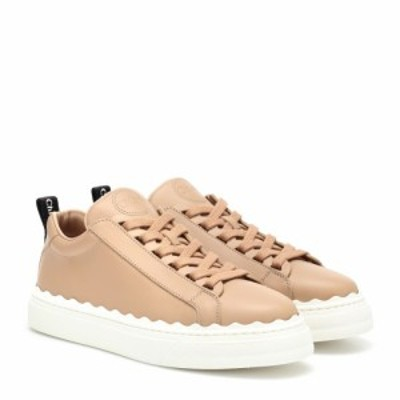 クロエ Chloe レディース スニーカー シューズ・靴 Lauren leather sneakers Pink Tea