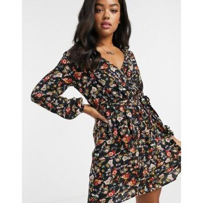 ジェイディーワイ レディース ワンピース トップス JDY mini wrap dress in ditsy floral