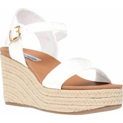 スティーブ マデン レディース サンダル シューズ Bahamas Espadrille Wedge Sandal White Synthetic