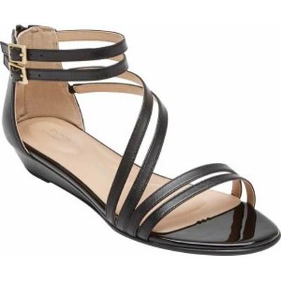 ロックポート レディース サンダル シューズ Women's Rockport Total Motion Zandra Ankle Strap Sandal Black Leather
