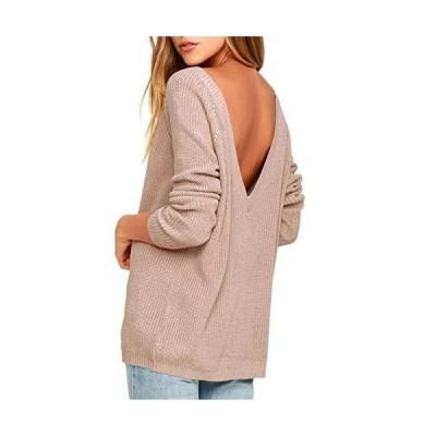 WAYATI Women Sweater Sleeve Long Neck Pullover Fall Sweaters Sexy Back Deep