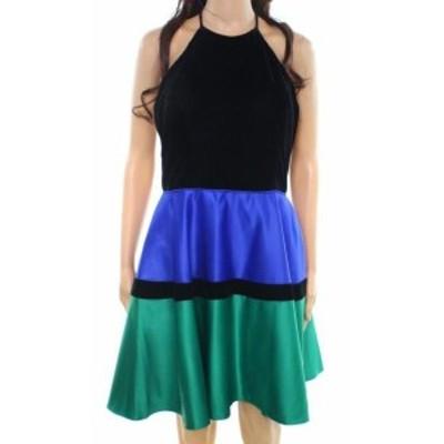 ファッション ドレス Blondie NEW Black Size 7 Junior Striped Colorblocked Sheath Dress