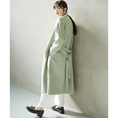 【ハコ】冬の地味コーデ脱出! さっと羽織って女っぽいきれい色ガウンコート