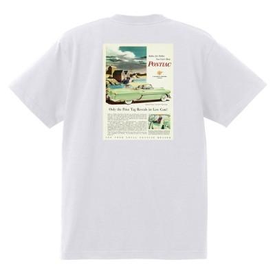 アドバタイジング ポンティアック 485 白 Tシャツ 黒地へ変更可能 1954 ローレンシャン スターチーフ パスファンダー カタリナ ホットロッド