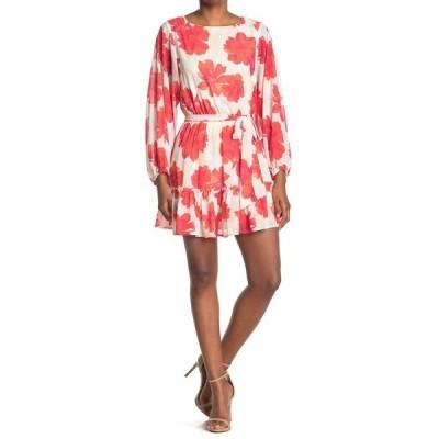 フライングトマト レディース ワンピース トップス Printed Mini Dress IVORY RED