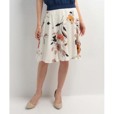 【ピッコラドンナ】 フラワープリントスカート レディース ベージュ 1号(7号) Piccola Donna