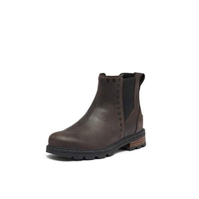 海外取寄品--Sorel Lennox Chelsea Stud Blackened Brown 5 B (M)