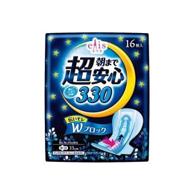 【ご奉仕品】エリス 朝まで超安心 330 特に多い日の夜用 羽つき 33cm(16枚入)/ 大王製紙