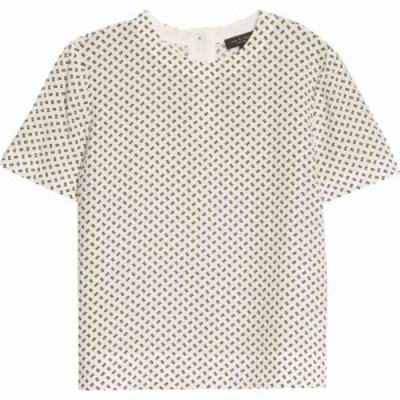 ラグandボーン RAG and BONE レディース トップス Gia Print Top White Multi