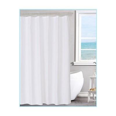 """新品N&Y HOME Fabric Shower Curtain Liner Solid White with Magnets, Hotel Quality, Machine Washable,70 x 72 inches for Bathroom, 70""""x72"""""""